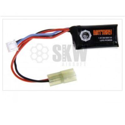 Batería de 7,4 voltios y 300 mAh con conector tamiya pequeño.