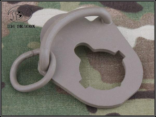 ENGANCHE PARA CORREA TRASERO M4 TIPO 3 TAN (AMBIDIESTRO) (ACM)