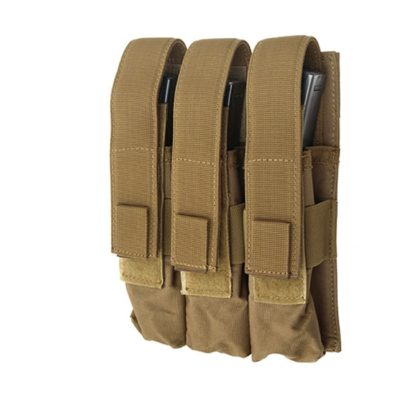 PORTA CARGADOR TRIPLE MP5 TAN ACM
