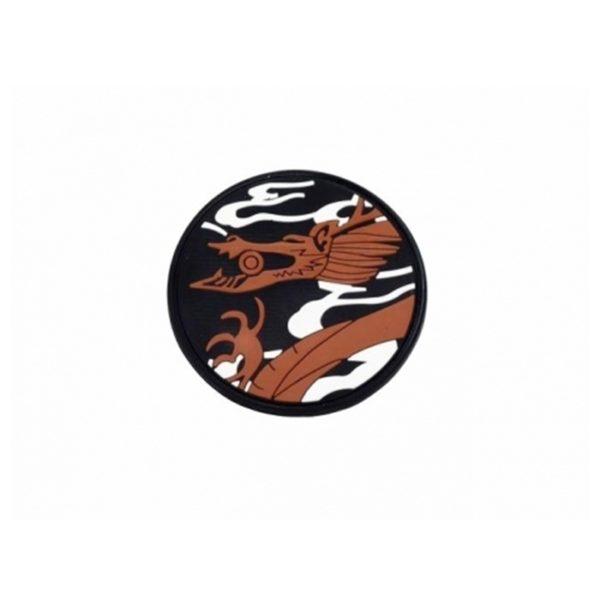 PARCHE PVC DRAGON REDONDO (ACM)
