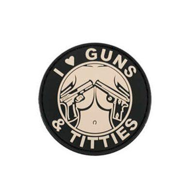 PARCHE PVC GUNS & TITTIES (ACM)