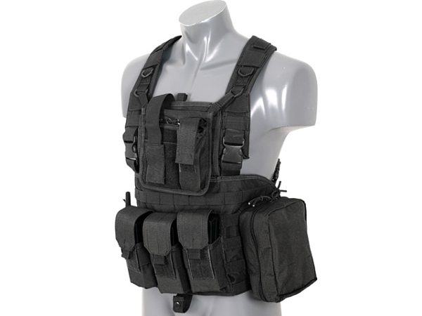 CHALECO SCOUT VEST TIPO CHEST RIG NEGRO